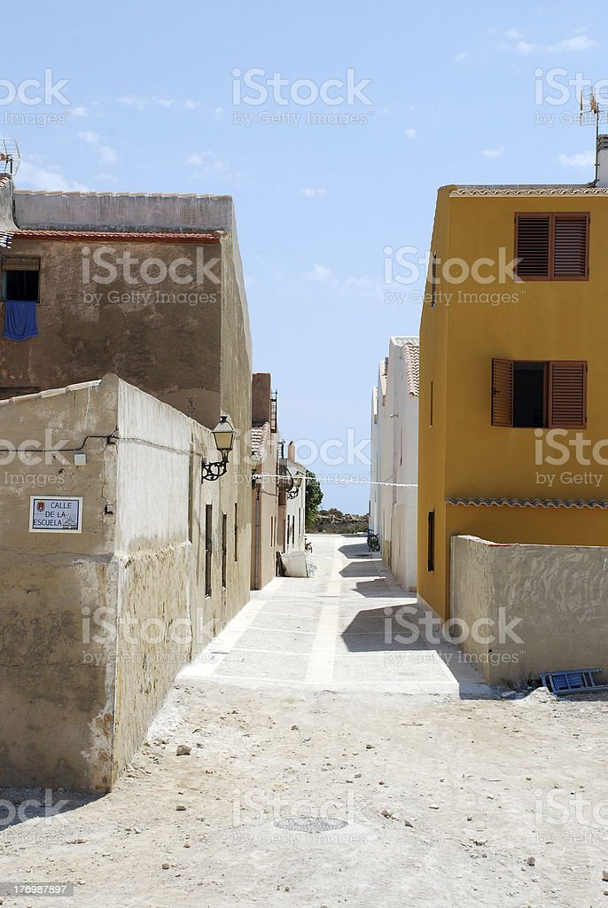 The Island Tabarca royalty-free stock photo
