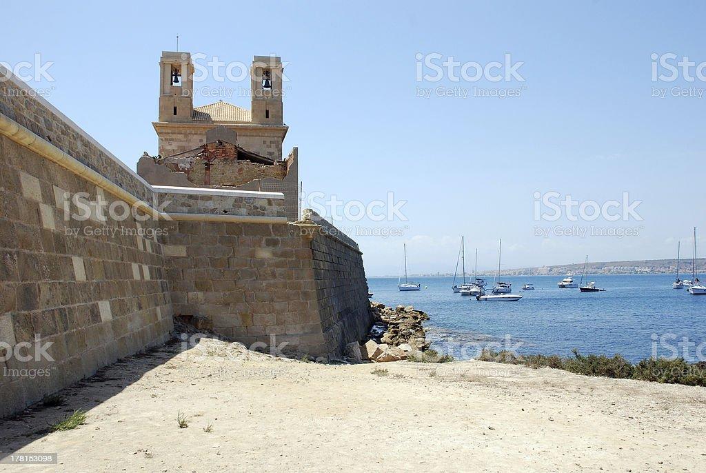 The Island Tabarca royalty-free stock photo