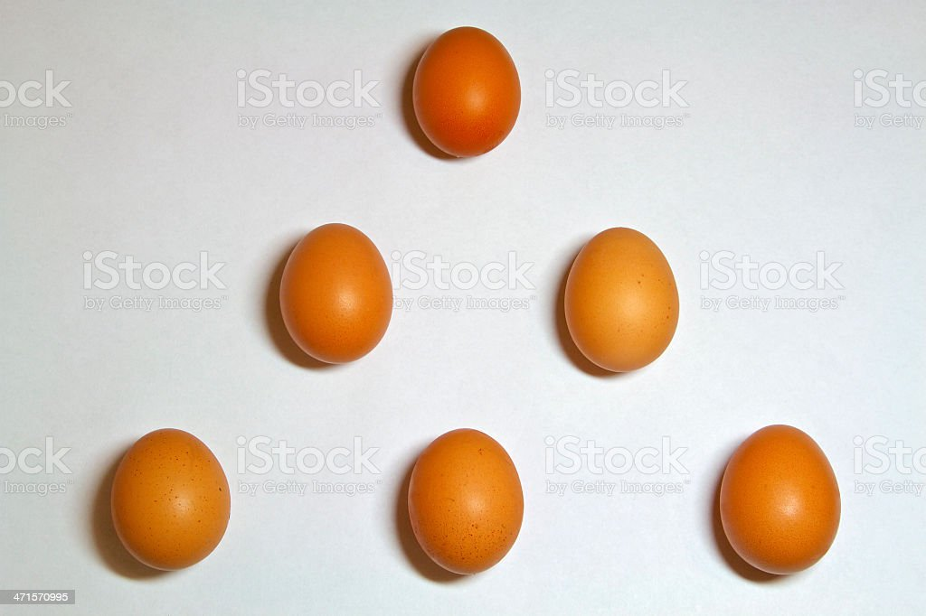 The isolated eggs royalty-free stock photo