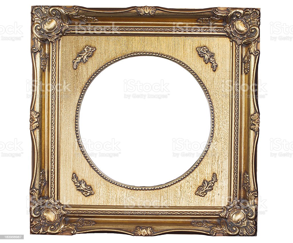The isolated picture frame royalty-free stock photo