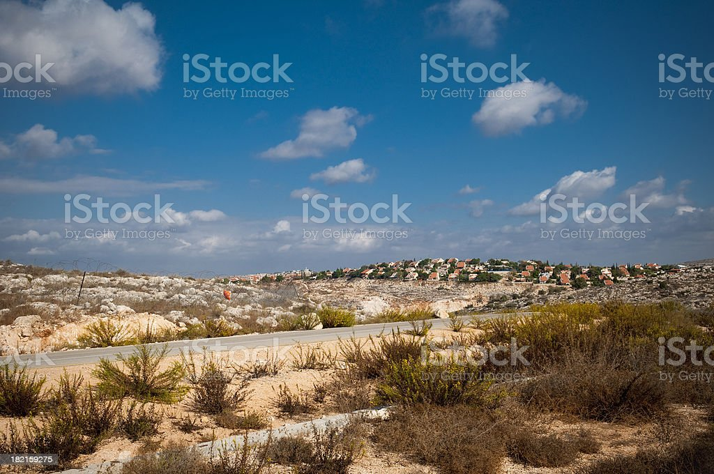 Israeli settlement of Beit Arye in the West Bank (Palestine) royalty-free stock photo