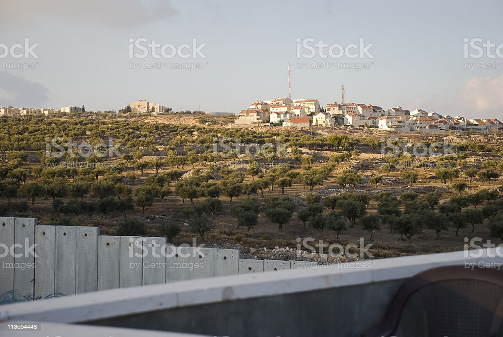Jewish West Bank settlement of Gilo royalty-free stock photo