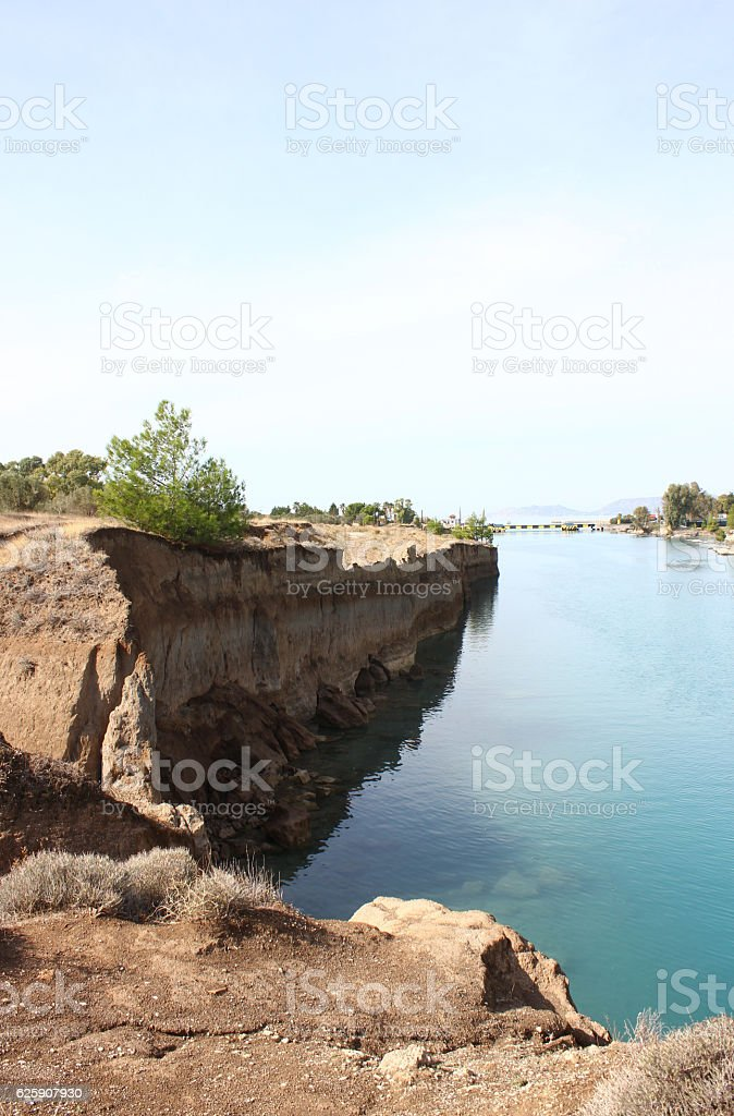 The Isthmus of Corinth stock photo