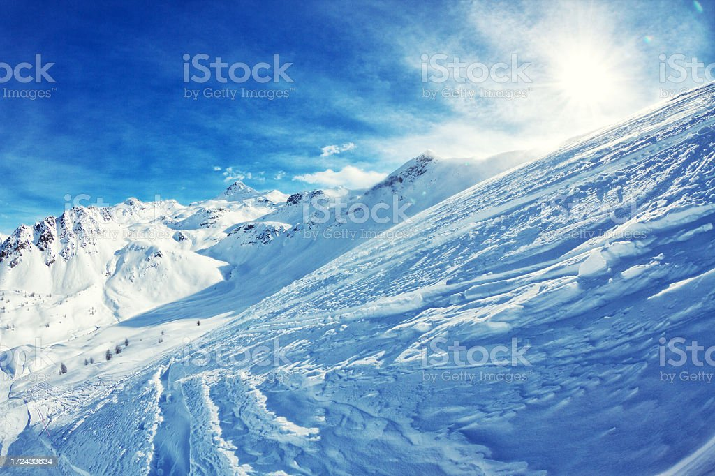 The italian alps in winter royalty-free stock photo
