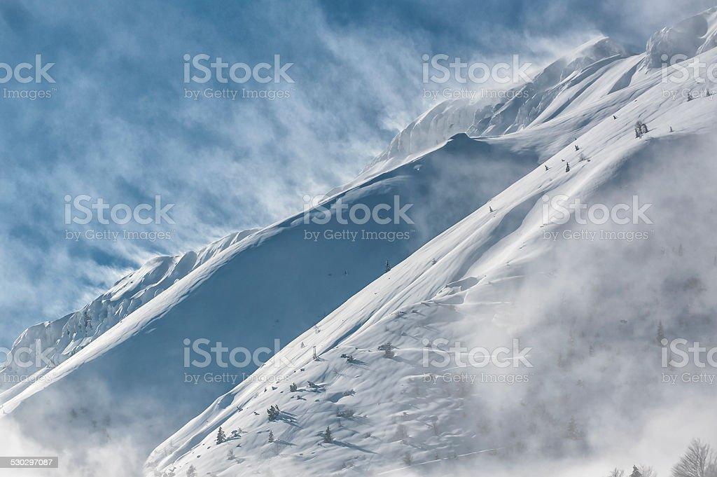 The italian alps in winter stock photo