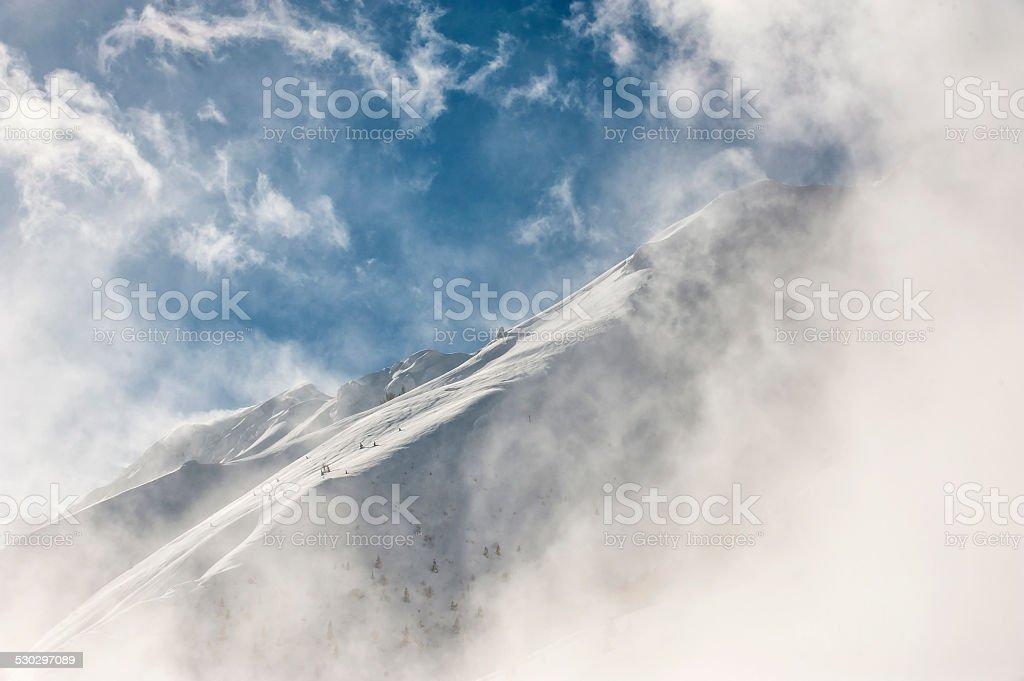 The italian alps in winter stock photo
