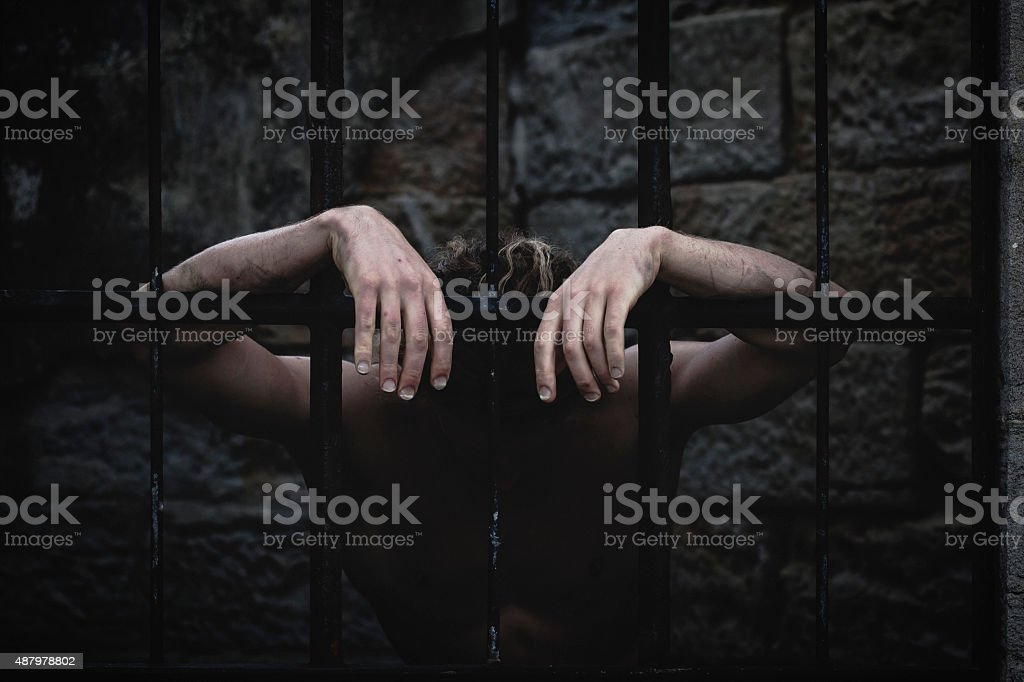 The Jail sentence stock photo