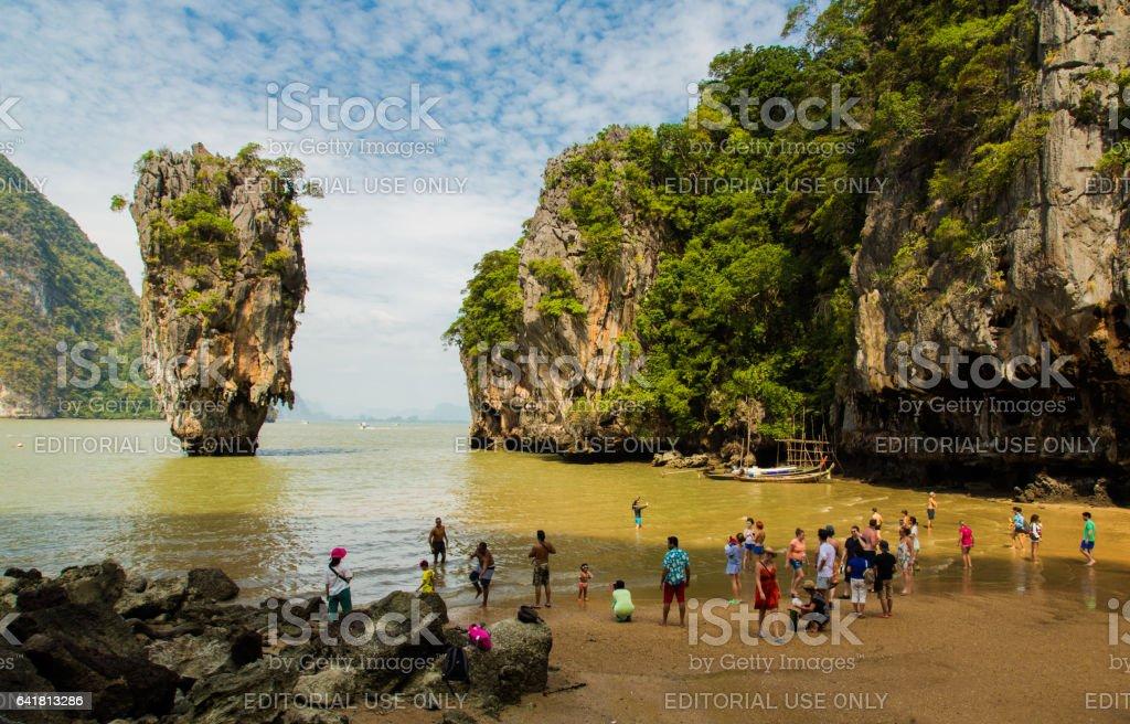 The James Bond Island Bay stock photo