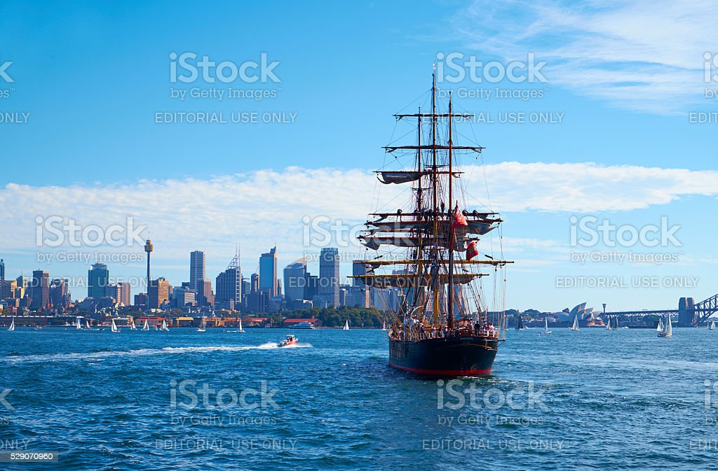 The James Craig In Sydney Harbour stock photo