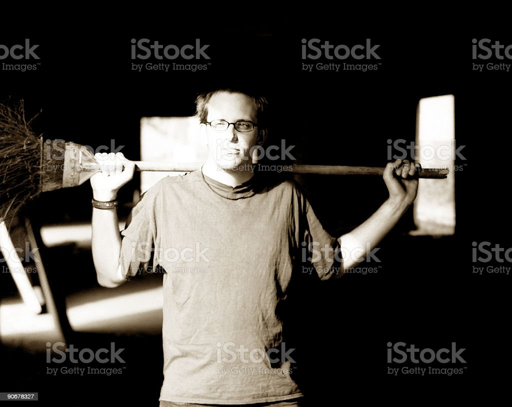 The Janitor royalty-free stock photo