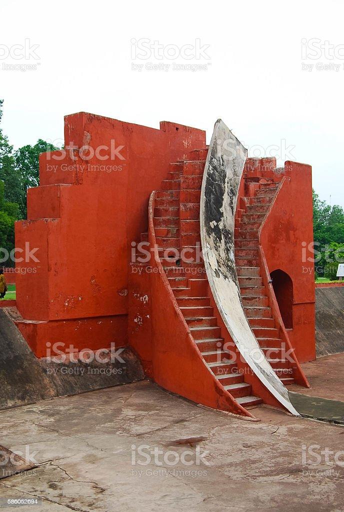 The Jantar Mantar observatory in New Delhi, India stock photo