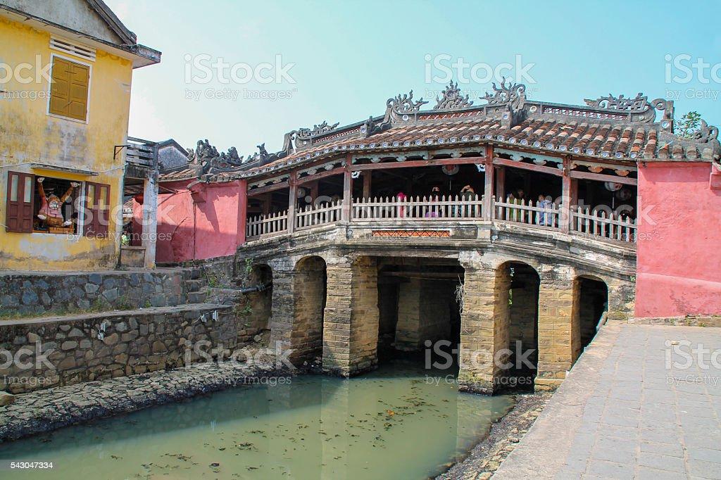 The Japanese bridge in Hoi An, Vietnam photo libre de droits