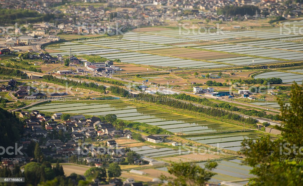 The Japanese Countryside stock photo