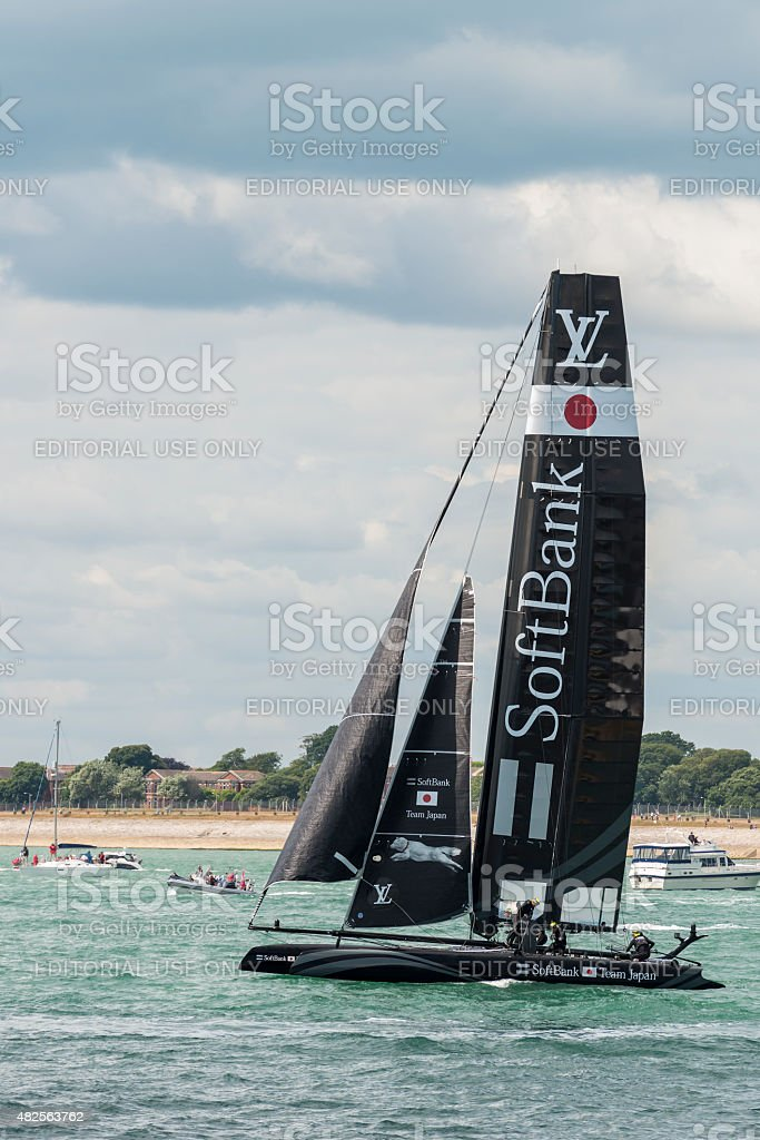 The Japanese Softbank America's Cup boat stock photo