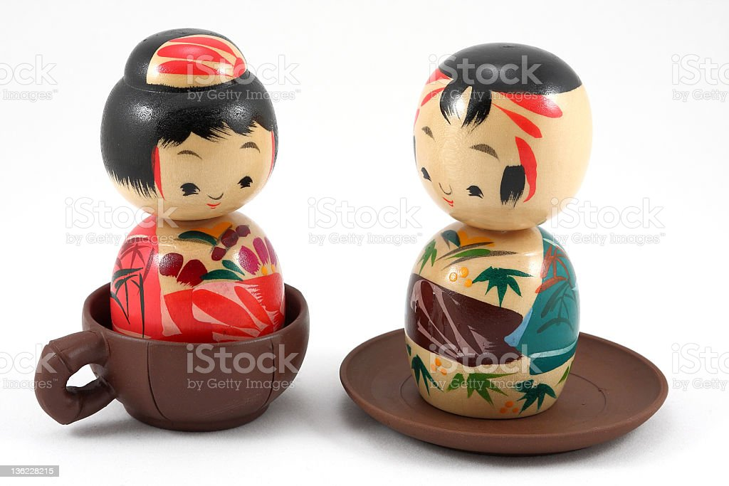 The Japanese wooden doll royalty-free stock photo