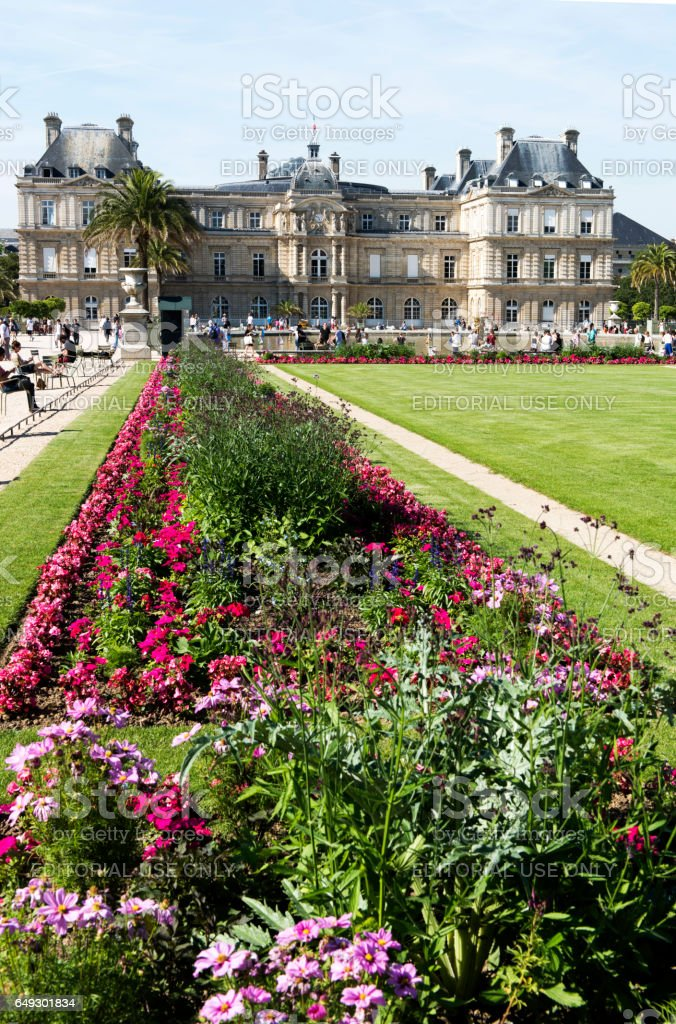 The Jardin du Luxembourg in Paris stock photo