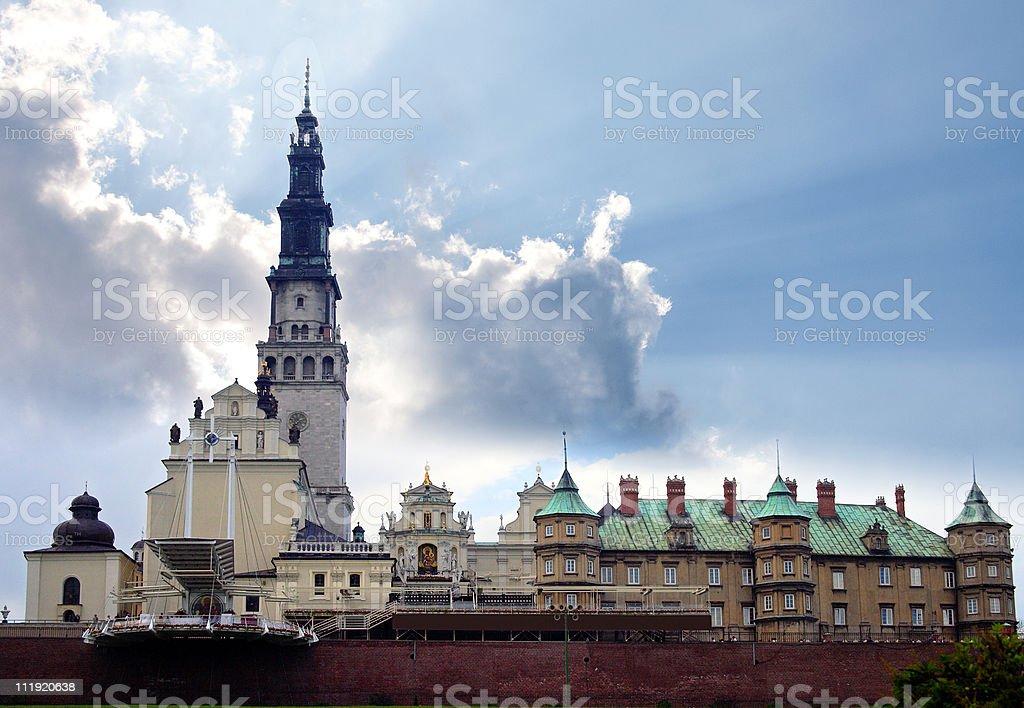 The Jasna Gora sanctuary in Czestochowa stock photo