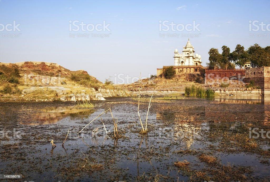 The Jaswant Thada mausoleum in Jodhpur, India stock photo
