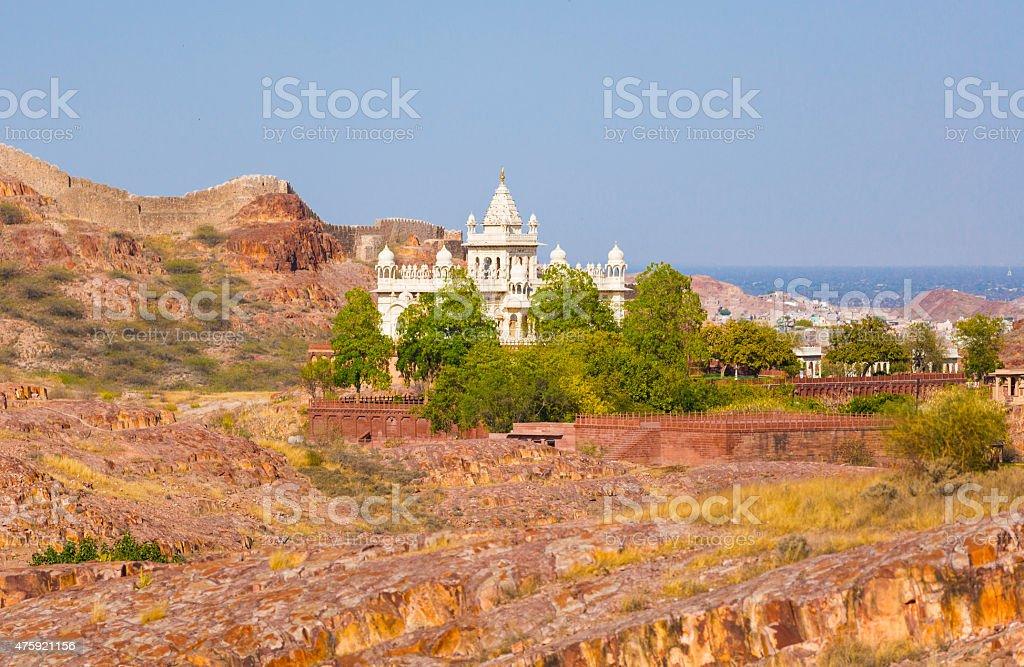 The Jaswant Thada mausoleum stock photo