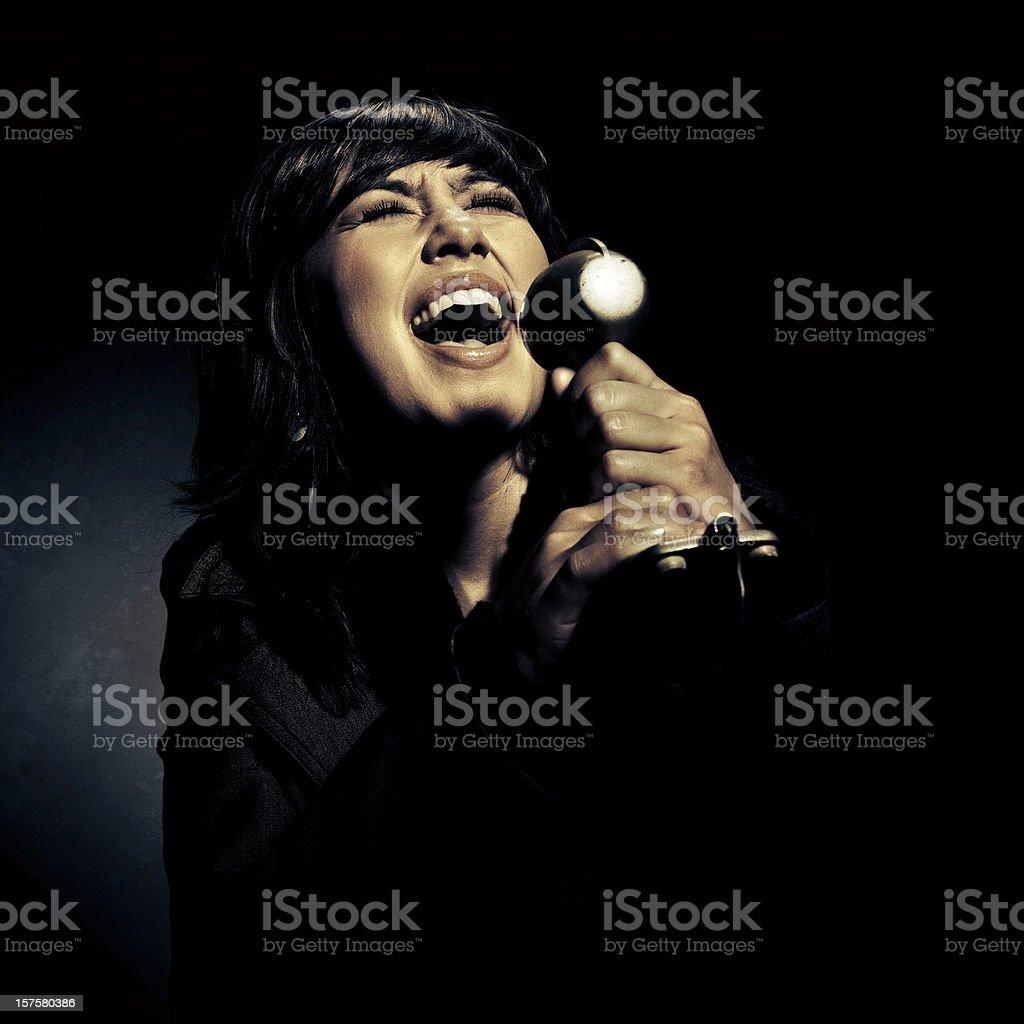 the jazz singer stock photo