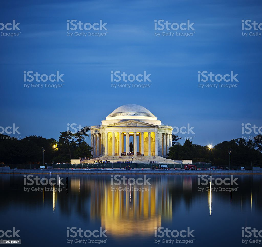The Jefferson Memorial royalty-free stock photo