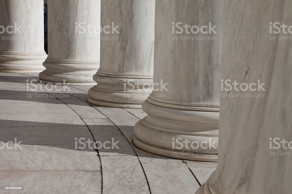 The Jefferson Memorial stock photo