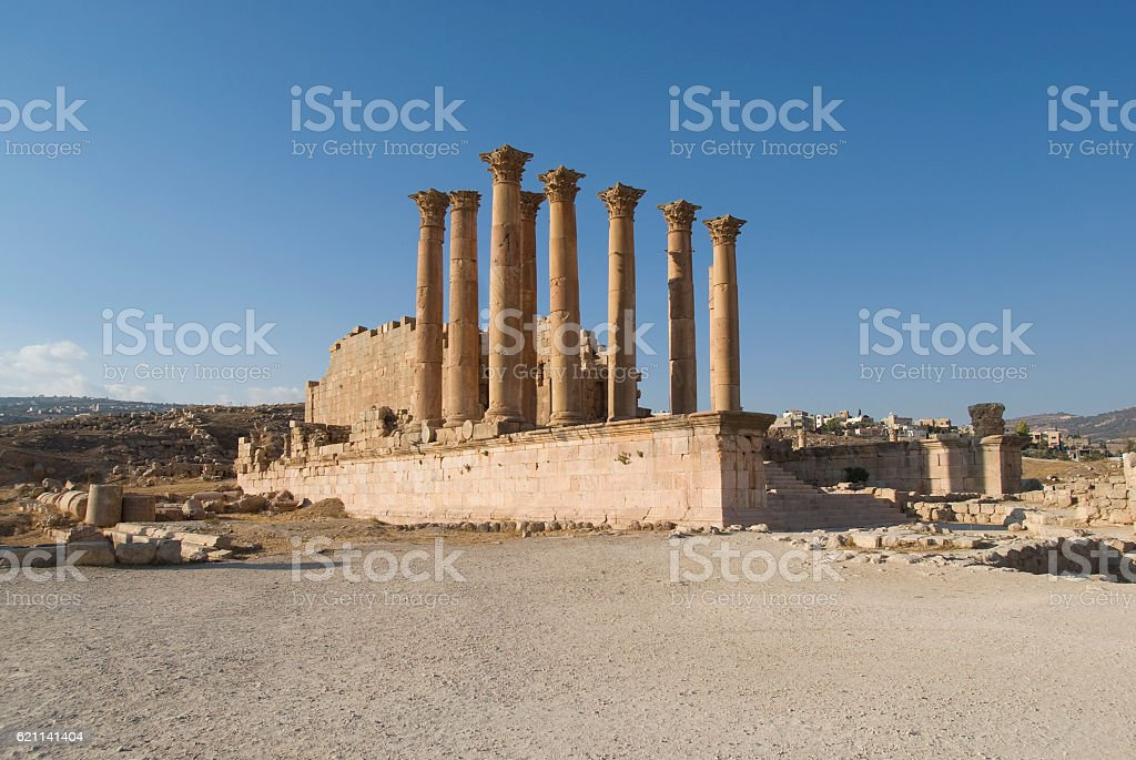 The Jerash Temple of Artemis,  Jordan stock photo