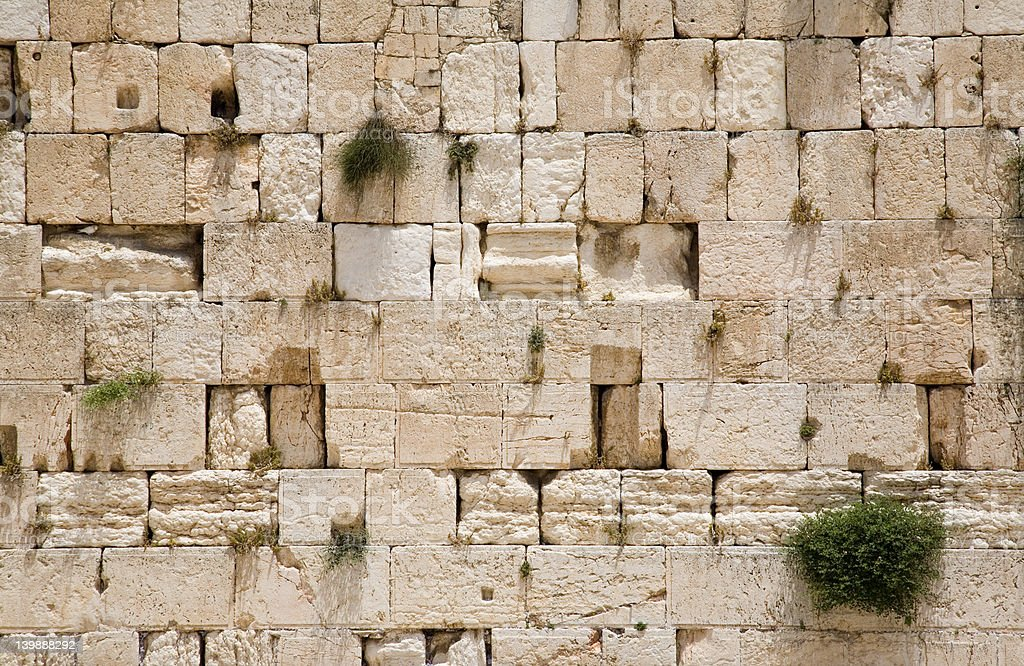 The Jerusalem wailing wall - closeup royalty-free stock photo