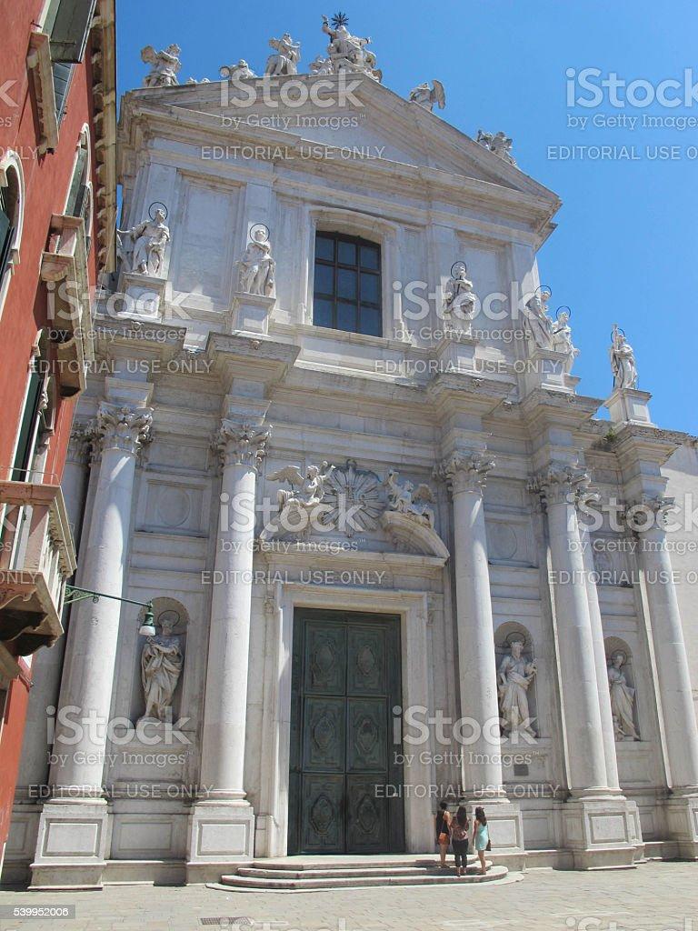 The Jesuit Church, Venice stock photo