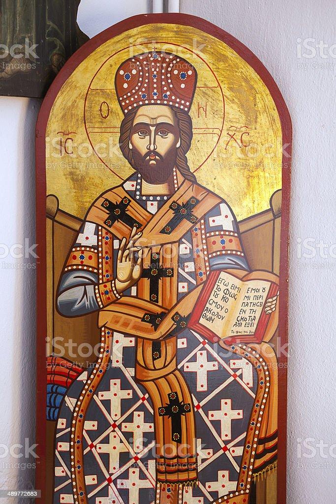 The Jesus Christ icon stock photo