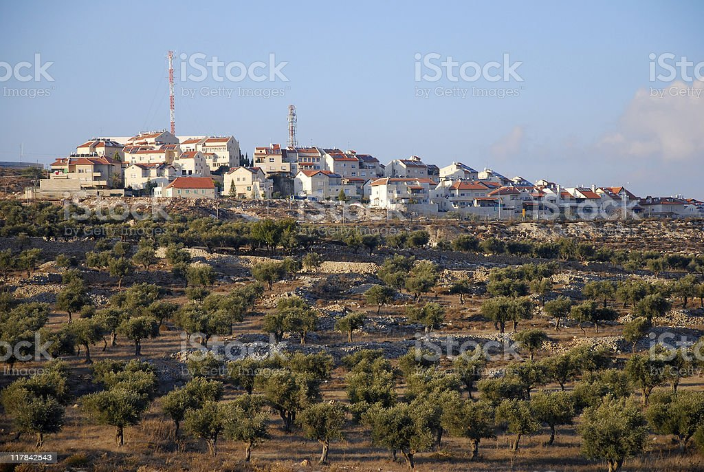 Israeli settlement of Gilo in West Bank stock photo