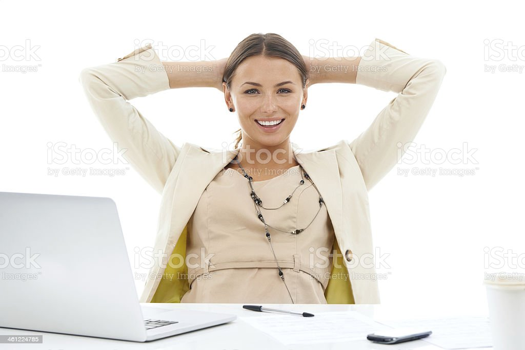 The job is finally done! stock photo