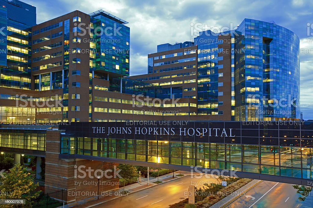The Johns Hopkins Hospital stock photo