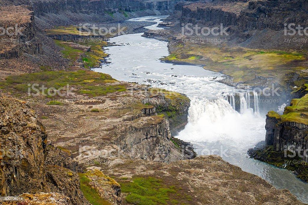 The Jokulsargljufur valley, Iceland stock photo