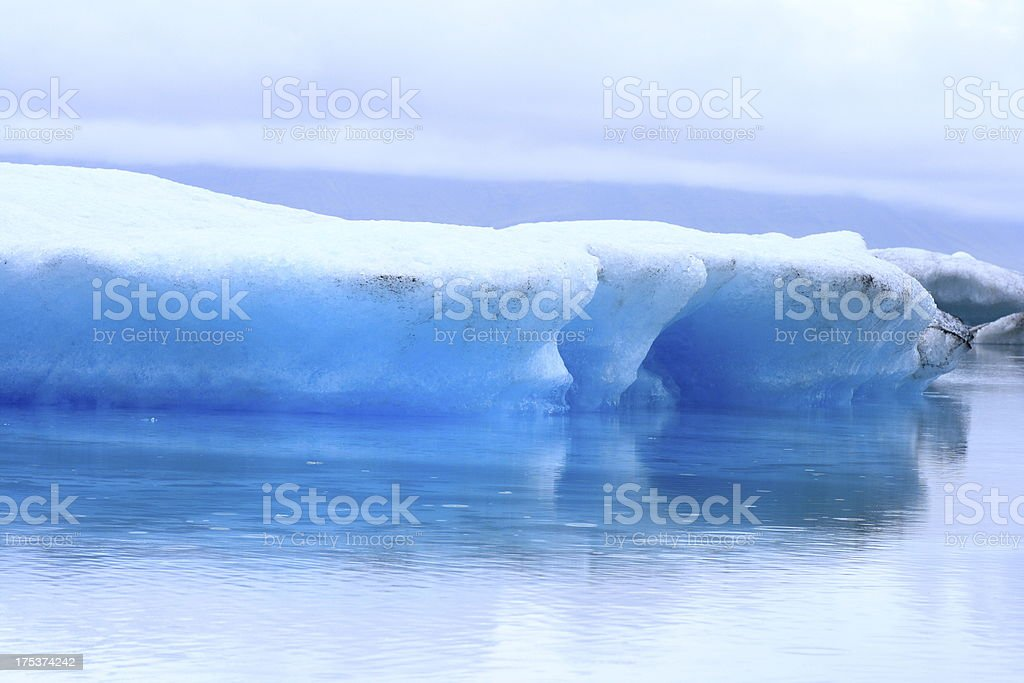The Jokulsarlon lake royalty-free stock photo
