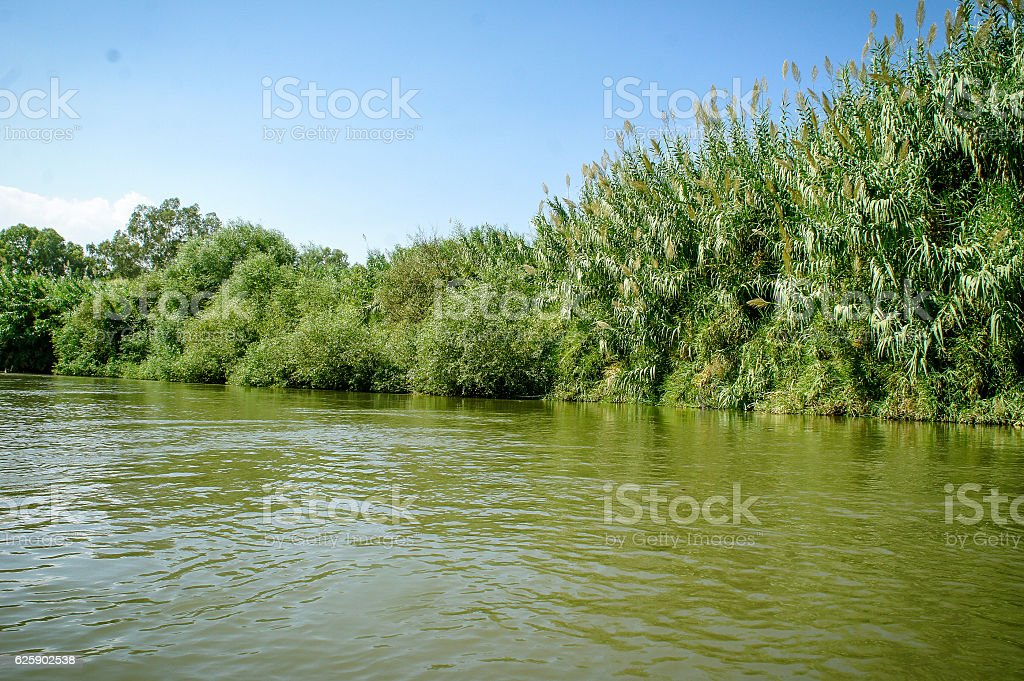 The Jordan River, Israel stock photo