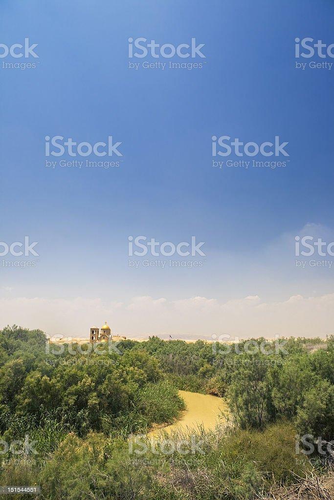 The Jordan River stock photo