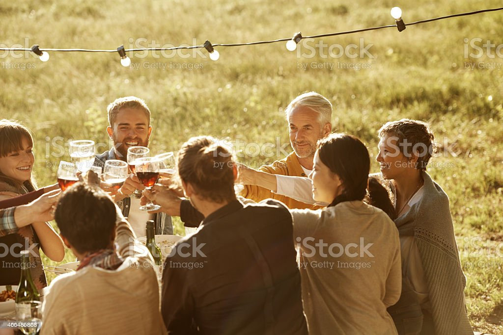 The joy of being together stock photo