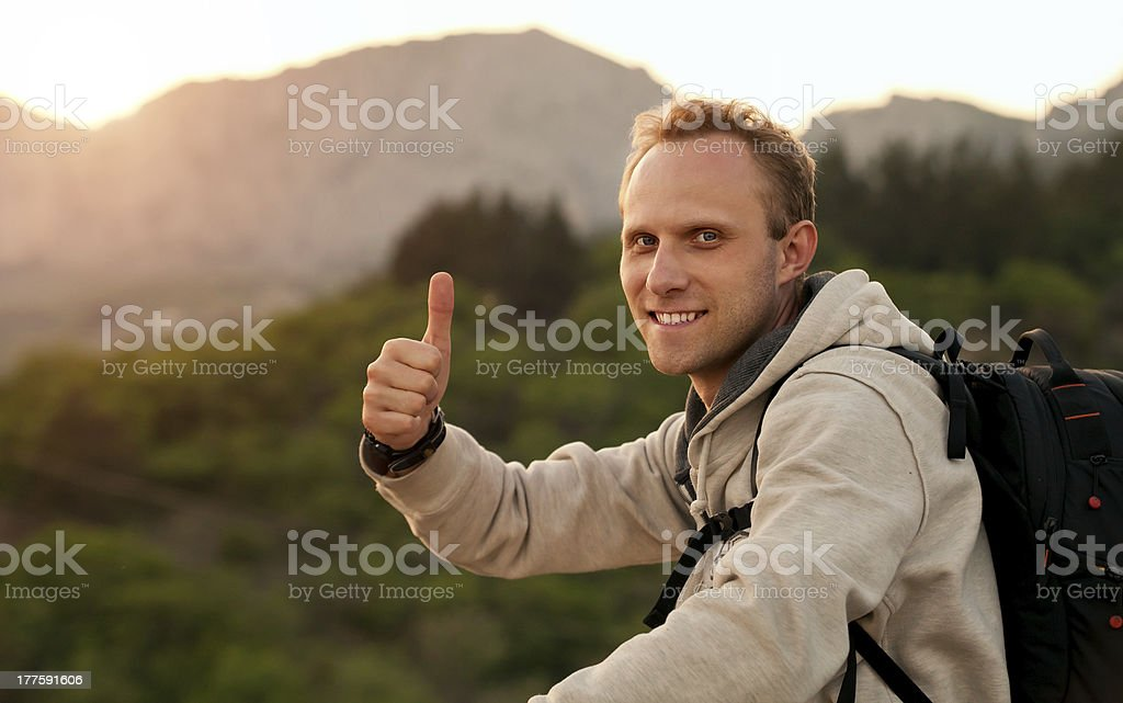 The joy of climbing royalty-free stock photo