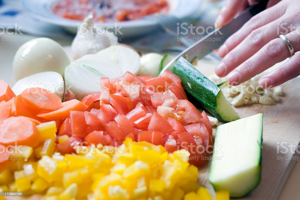 The Joy of Cooking royalty-free stock photo
