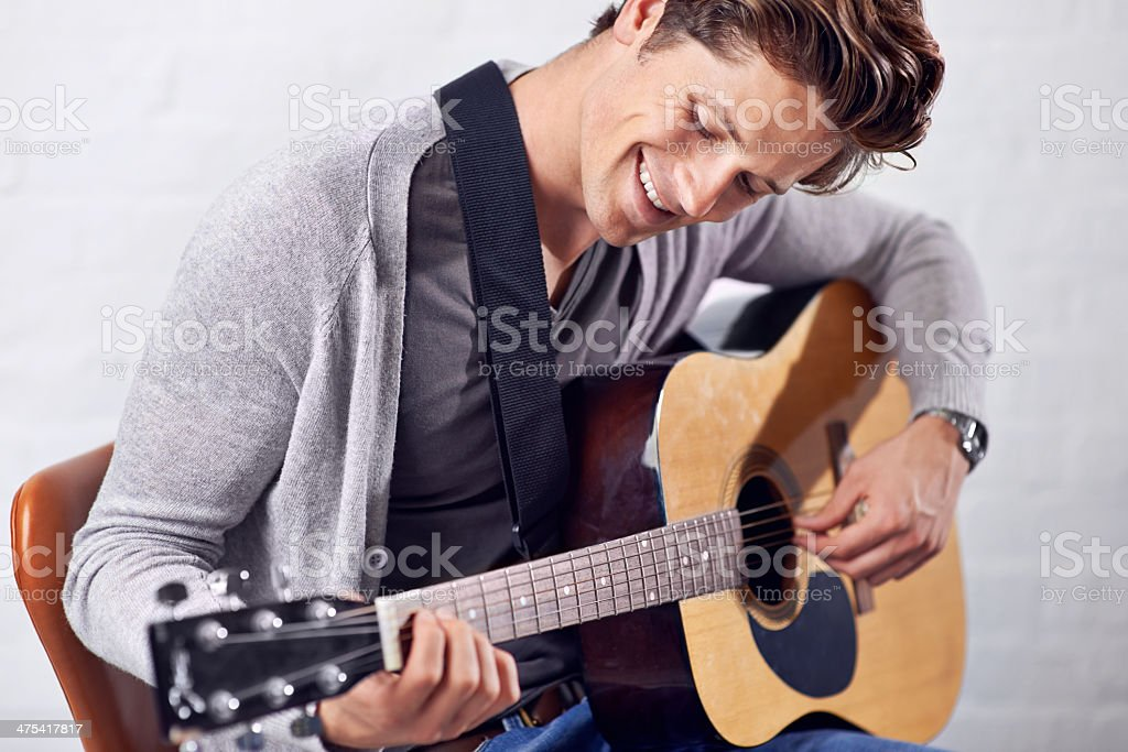 The joy of mastering a new piece stock photo