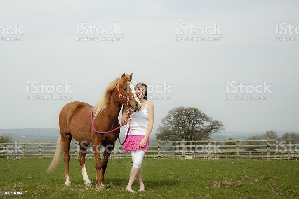 The joy of owning a horse royalty-free stock photo