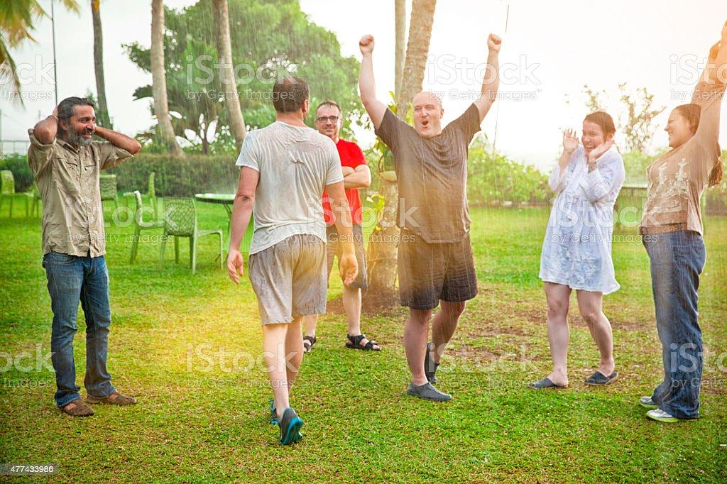 The Joy of Rain stock photo