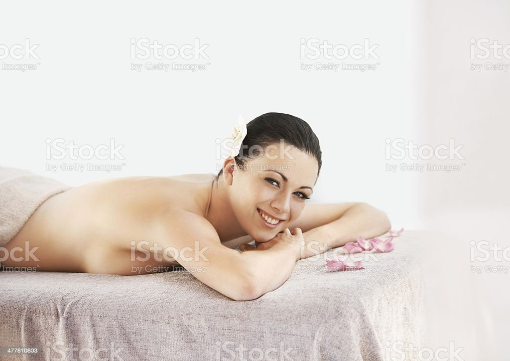 The joys of a beauty treatment royalty-free stock photo