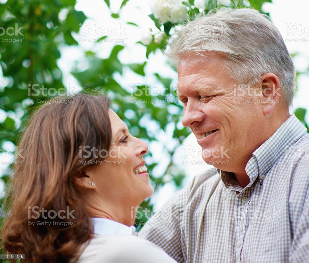 The joys of a happy marriage stock photo