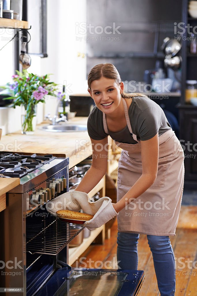 The joys of baking stock photo