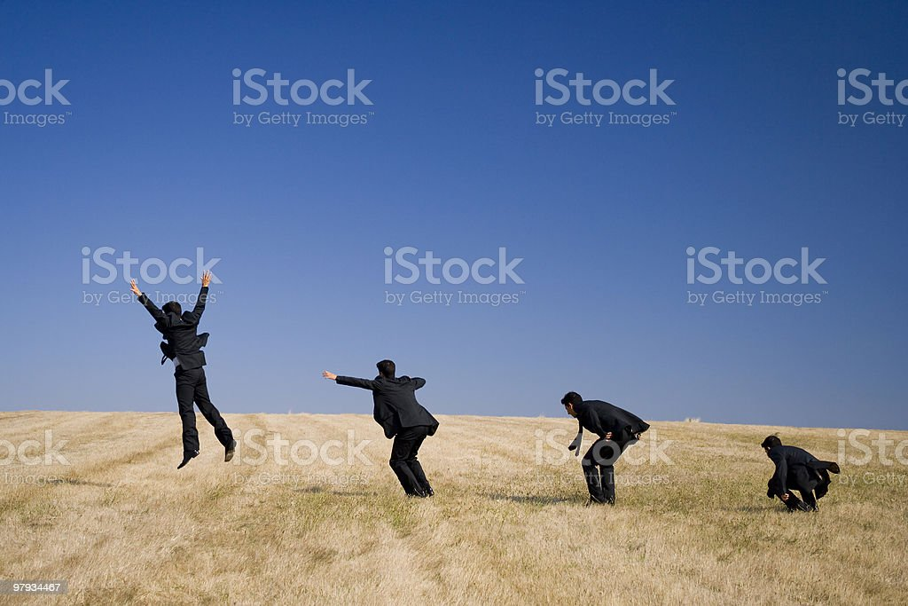 The Jump evolution royalty-free stock photo