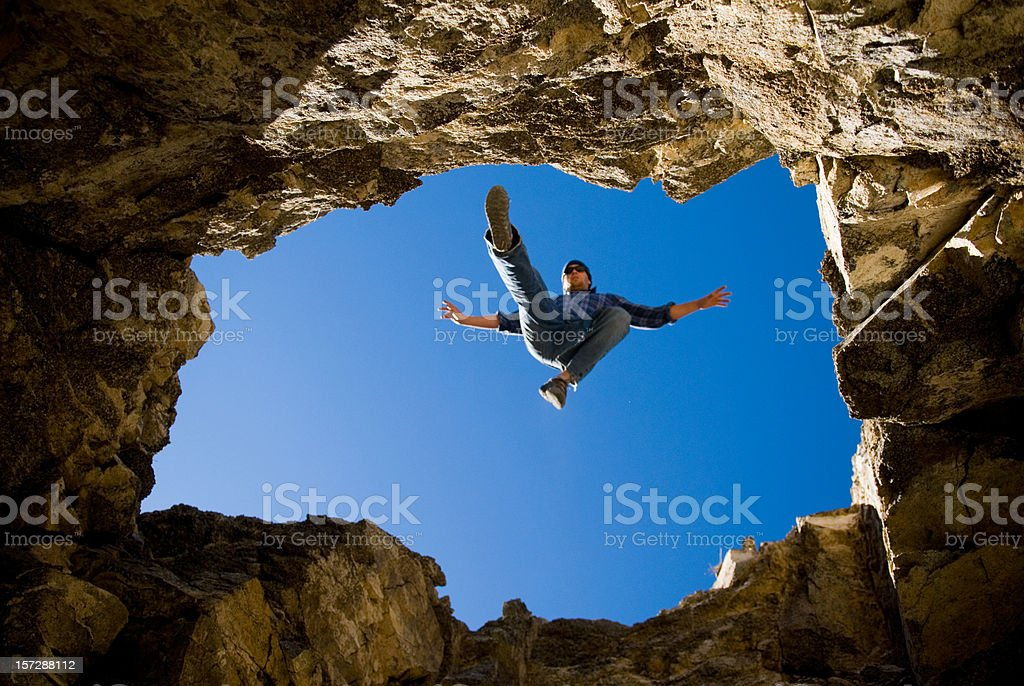 The Jump royalty-free stock photo