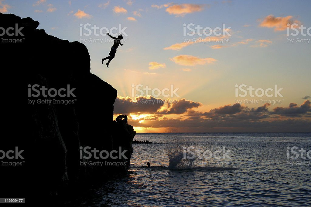 The Jumping Rock royalty-free stock photo