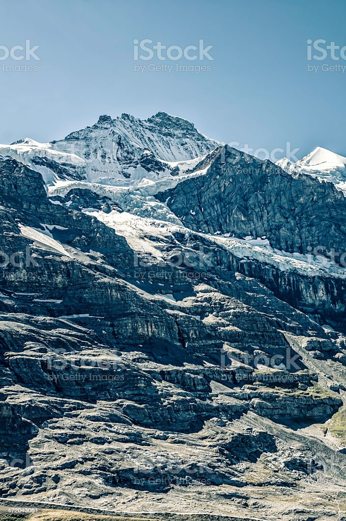 The Jungfrau, summit in Bernese Alps - IV royalty-free stock photo
